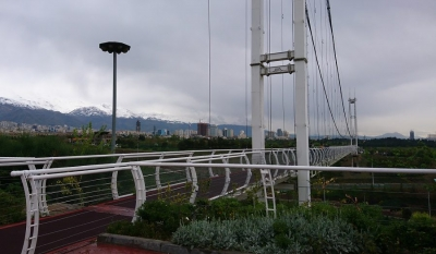 SKY , THE FIRST suspension bridge OF TEHRAN