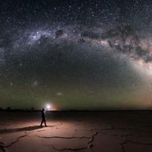 MARANJAB DESERT AT NIGHT