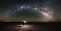 MARANJAB DESERT AT NIGHT