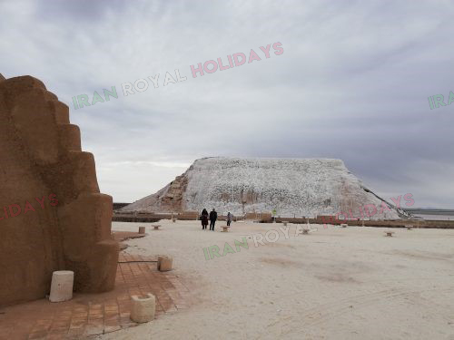 discover iran with salt waterfall